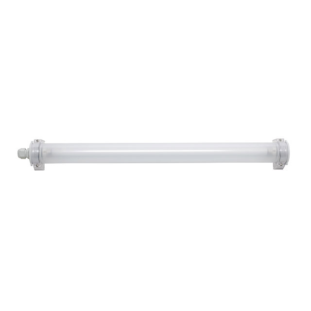 Fluorescent waterproof linear lighting with grey plastic end caps